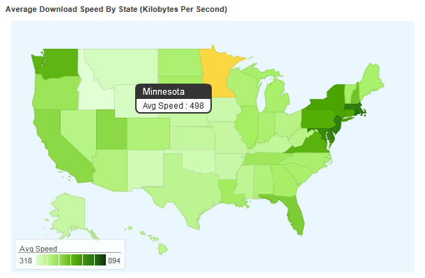 July Blandin On Broadband - Us internet speed map