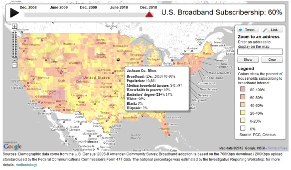 New broadband maps: MN well above average | Blandin on Broadband