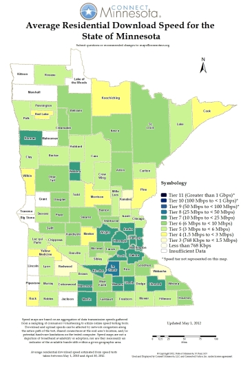 mn broadband speeds by county