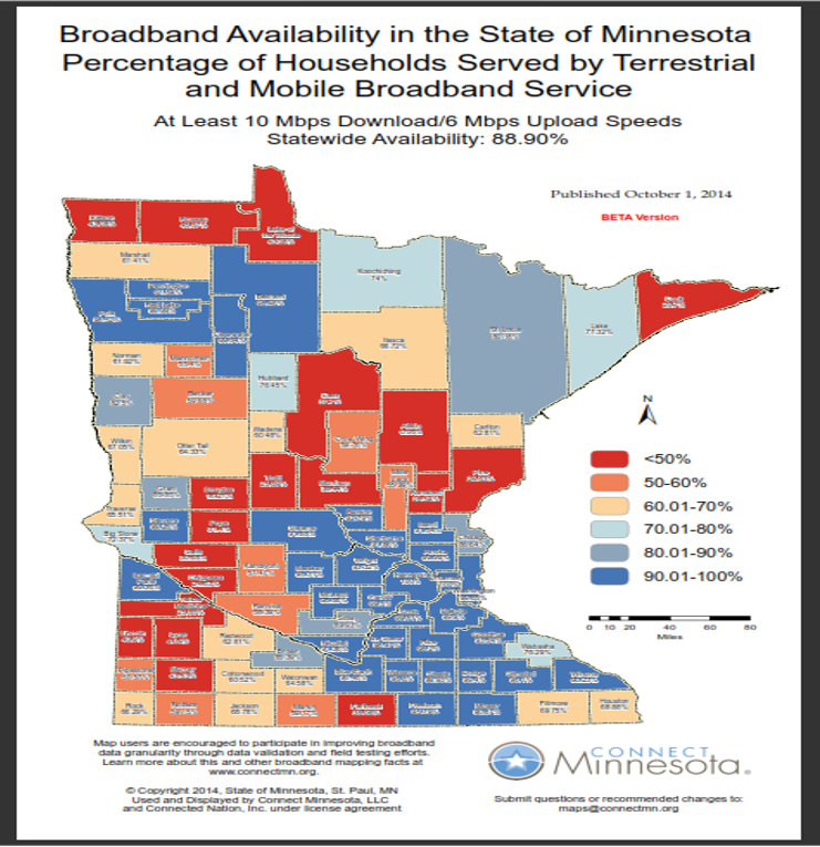 Mn State Map With Cities And Counties.Mn 2015 Broadband Goals Loom Twin Cities Served At 100 Yet Aitkin