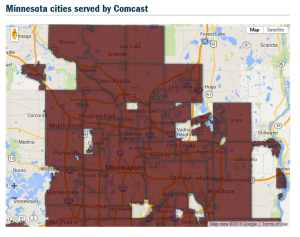 comcast map