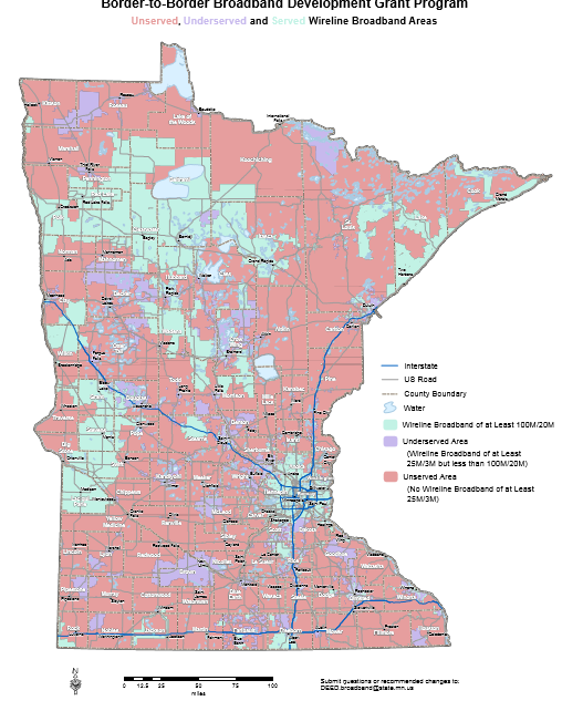 Where Is Minnesotas Worst Broadband A Look At The Maps And Data - Where is minnesota